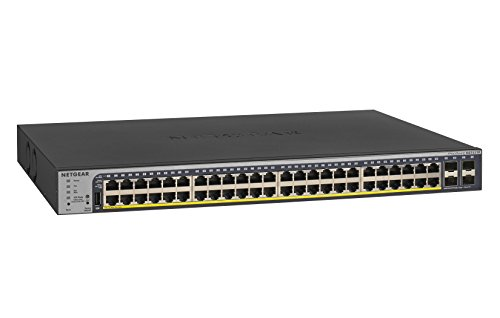 NETGEAR 52-Port Gigabit Ethernet Smart Managed Pro PoE Switch (GS752TP) - with 48 x PoE+ @ 380W