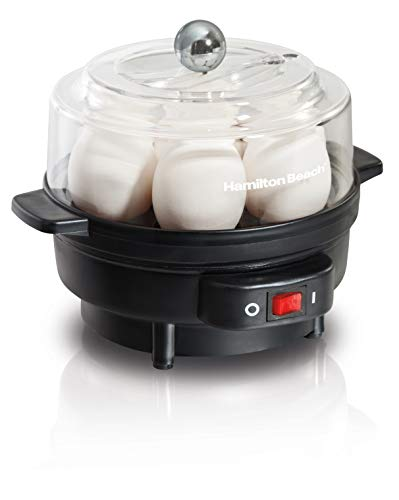 Hamilton Beach 25500 7 Egg Cooker with Built-In Timer and Poaching Tray...