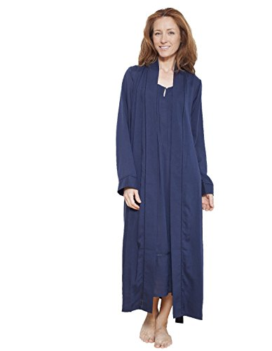 Cyberjammies 1217 Women\'s Nora Rose Navy Blue Solid Colour Dressing ...