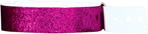 - Wristband Giant Plastic Sparkle Wristbands box 100 The Ultimate Event Wristband (Purple)
