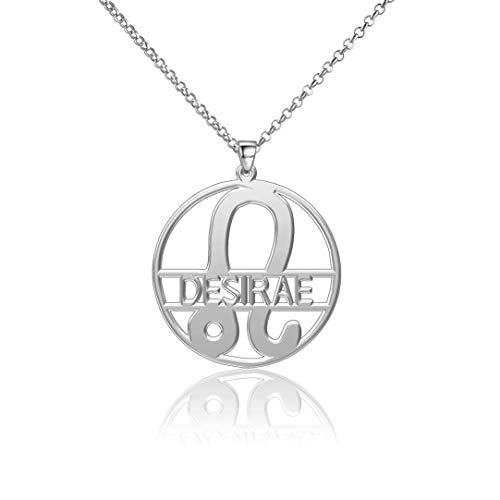 LoEnMe Jewelry Silver Plated Leo Name Women Custom Made Coke Boys Law Tooth Bone Personalized Desirae Necklace