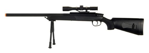 cyma zm51 spring airsoft gun sniper rifle fps-400 w/ bipod, scope(Airsoft Gun) M14 Sniper Rifle Bolt