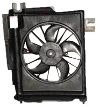 TYC 610730 Dodge Ram Pickup Replacement Condenser Cooling Fan Assembly (Ac Compressor Fan)