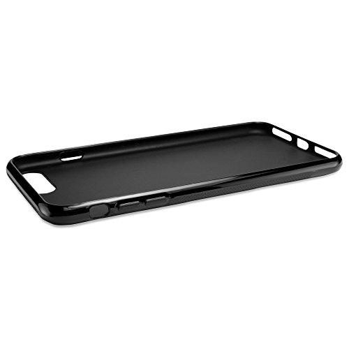 Apple iPhone 7Plus Schutzhülle, BoxWave® [Body] Premium Strukturierte TPU Gel Skin Case für Apple iPhone 7Plus–Jet Schwarz