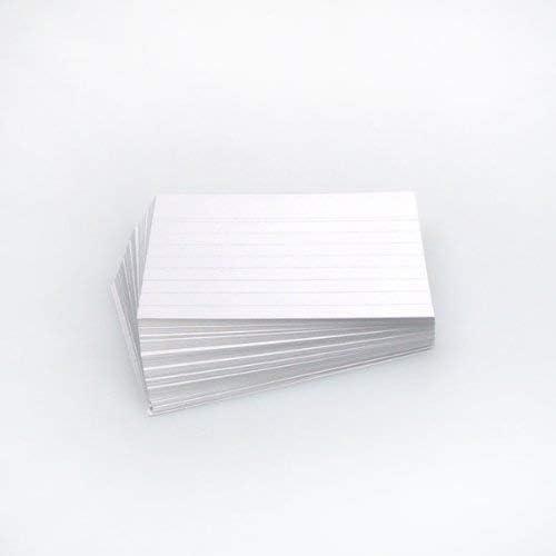 Office Line Karteikarten, 500 Stück, weiß, 190 g, DIN A6, liniert, Art.Nr.: 770287