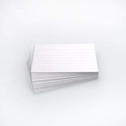 Office line lot de 500 fiches bristol blanc 190 g, a6 lignées product image