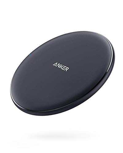 Anker 10W Max Wireless Charger, PowerWave Pad Upgraded, Qi-Certified Wireless Charging 7.5W for iPhone Xs Max/XR/XS/X/8/8 Plus, 10W Fast-Charging Galaxy S10/S9/S9+/S8/Note 9 (No AC Adapter)