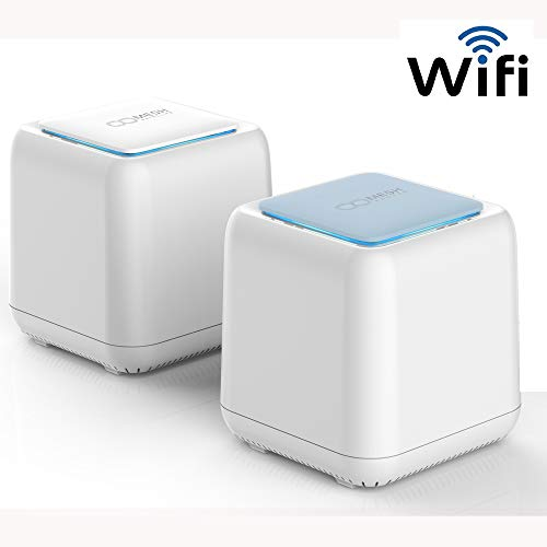 MeshGo Whole Home Intelligent Mesh WiFi System to Replace Traditional WiFi Router and WiFi Extenders - Coverage up to 3,000 Sq Ft(2-4 Rooms) Easy Setup Compatible with Alexa AC1200
