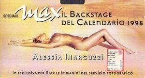 Marcuzzi Backstage Calendario.Alessia Marcuzzi Il Backstage Del Calendario Max 1998 Vhs