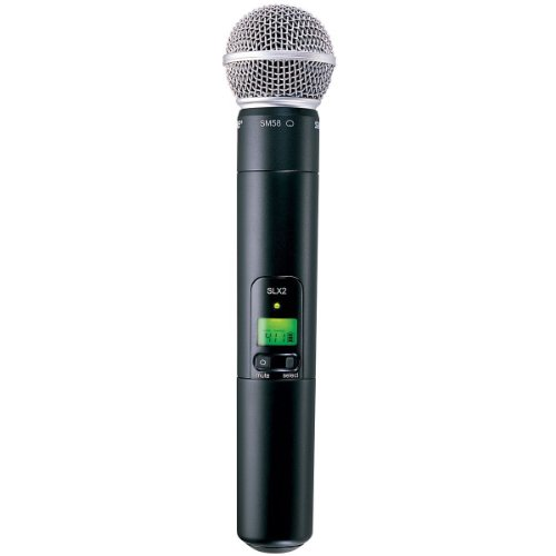 - Shure SLX2/SM58 Handheld Transmitter with SM58 Microphone, G4