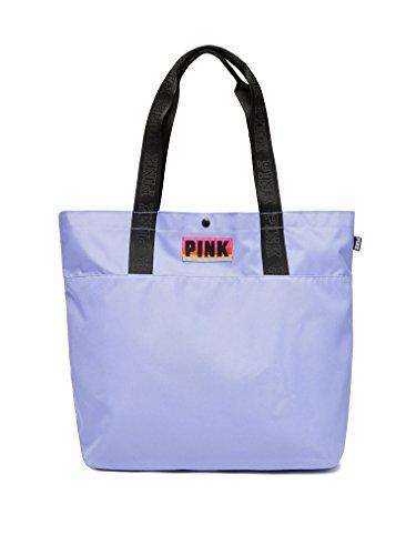 Victoria's Secret Pink Tote Bag Lilac Shadow Logo Straps
