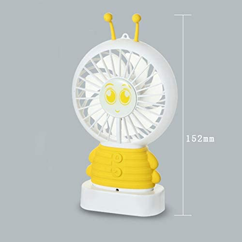 SirMo AI Intelligent Voice Fan USB Mini Handheld Portable Fan Night Light Voice Control Fan