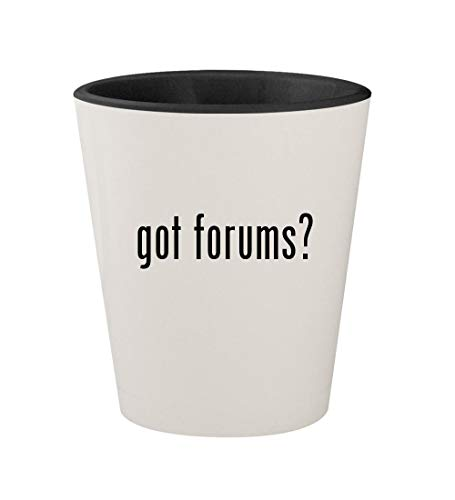 (got forums? - Ceramic White Outer & Black Inner 1.5oz Shot Glass)
