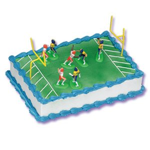 Football Game Cake Decorating Kit Topper