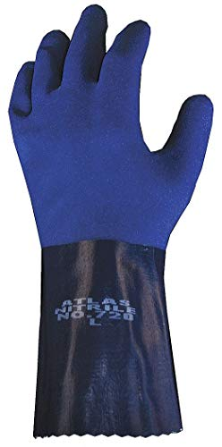 Showa 720L-09 Nitrile Chemical Resistant Gloves, 15 mil Thick, 12