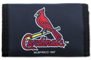 Cardinals Louis Wallet - Rico MLB St. Louis Cardinals Nylon Trifold Wallet
