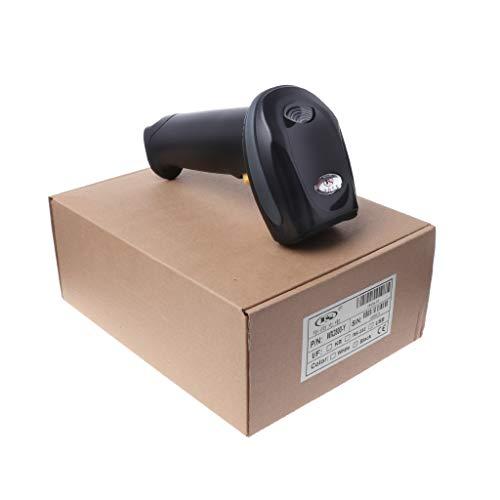 Thobu Wireless 1D Laser Barcode Scanner Reader with USB Cradle Receiver Charging Base,Black