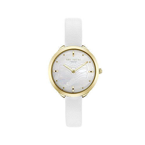 Ted Baker Women's Elena Quartz Watch with Leather Strap, White, 10 (Model: TE15198024