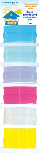 ADVANTUS CORPORATION Clubhouse Crafts Stretch Cord-Pastel-6 Colors 4 Yards Each ()