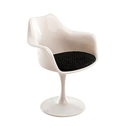 amazon com toogoo r 1 12 scale plastic tulip armchair swivel chair