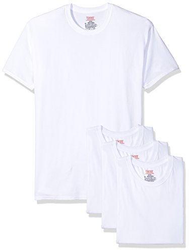 Hanes Ultimate Men's 4-Pack FreshIQ Stretch Crew, White, -
