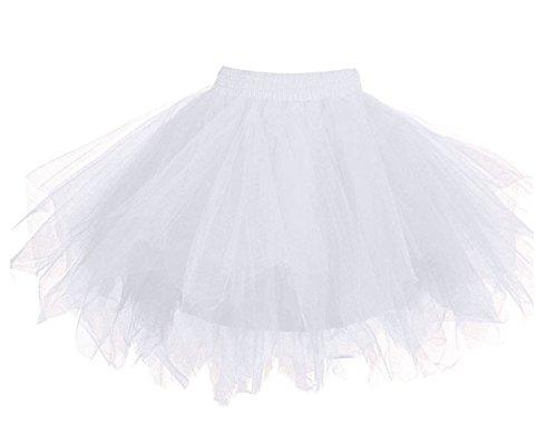 Loreone Women's Rainbow TuTu Petticoats Crinoline Dance Adult Skirt ()
