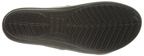 Black black Sanrah Crocs Women's Sandal Beveled Circle wY4nnCfxqX