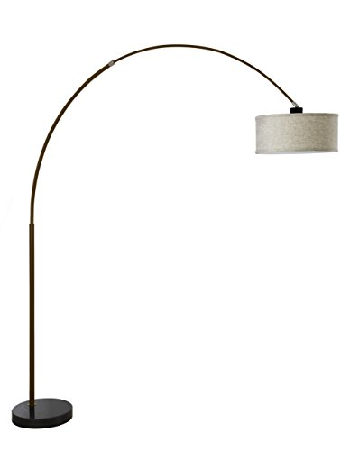Major-Q 6938ES Steel Adjustable Arching Floor Lamp with Marble, 81
