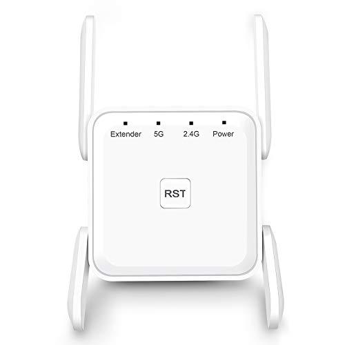 🥇 Amplificador Señal Wifi Amplificador Wifi – Repetidor WiFi AC 1200 Wifi Amplificador Doble Banda 5G y 2.4G WiFi Extender WiFi Booster con Puerto Gigabit Ethernet