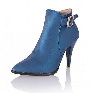 Novedad RTRY Otoño Sintética Moda CN46 Toe Botas EU44 Confort Mujer Botines Zapatos Pu Piel De Hebilla UK10 US12 Botas Talón Señaló Invierno De Stiletto Botines wfpw0q