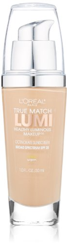 L'Oréal Paris True Match Lumi Healthy Luminous Makeup, W3 Nude Beige 1 Ounce