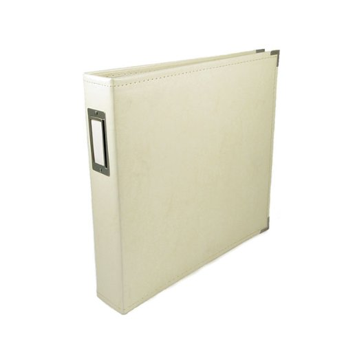 We R Memory Keepers Classic Leather 3-Ring Album, 12 by 12-Inch, Vanilla 3 Ring Memory Albums