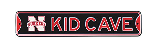 Authentic Street Signs NCAA College Officially Licensed STEEL Kid Cave Sign-Decor for sports fan bed room! ... (Nebraska Huskers) - Ncaa Nebraska Cornhuskers Street Sign