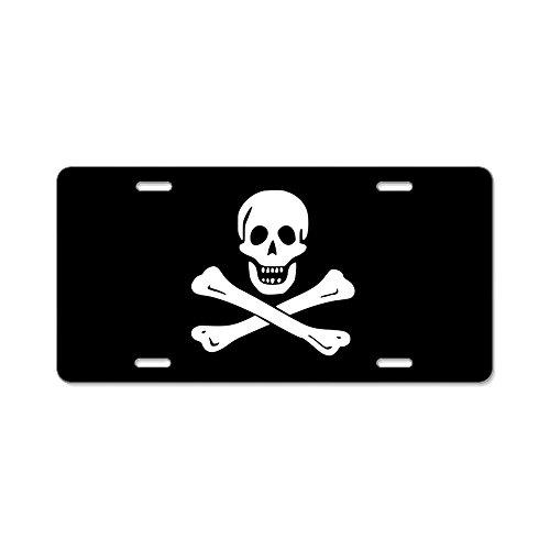 CafePress - Jolly Roger Aluminum License Plate - Aluminum License Plate, Front License Plate, Vanity Tag