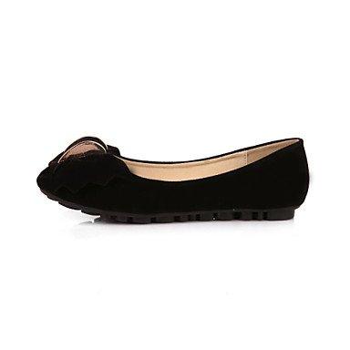 Cómodo y elegante soporte de zapatos de la mujer flatsl Comfort/Puntera Cerrada/Flats Casual Flat Heel bowknotblack/azul/amarillo/rosa/ amarillo