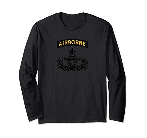Senior Parachutist Jump Wings Long Sleeve Shirt ()