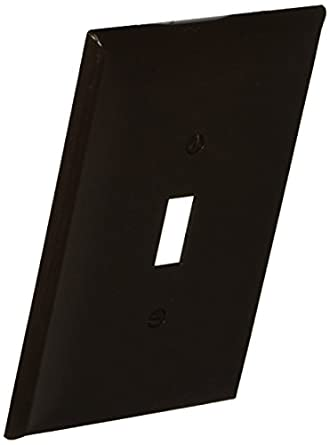 morris lexan wall plate oversize toggle switch 1 gang brown