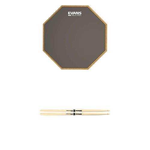 "Evans RF12G 12/"" Apprentice Drum Stick Practice Pad Real Feel Response From Stick"