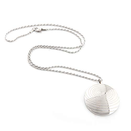 N+NITROLUBE Fashion Stainless Steel Spiral Disk Pendant Necklace Jewelry Gifts Women Men Link 22