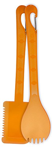 UST KLIPP Spork & Spatula Set with a BPA Free, Dishwasher Safe Construction for Cooking, Camping, Hiking and Outdoor Survival