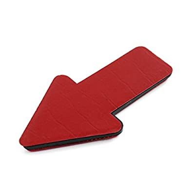 uxcell 2pcs Red Plastic Arrow Shape Vehicle Car Reflector Reflective Plate Sticker: Automotive