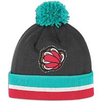 (Vancouver Grizzlies Mitchell & Ness Jersey Stripe Cuffed Knit Hat )