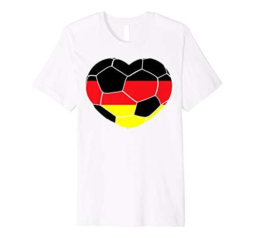Germany Soccer Ball Heart Jersey Shirt German Football Gift (German Goalie Jersey)