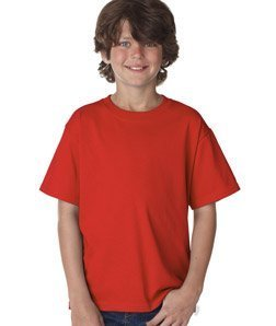 Fruit of the Loom Youth 5 oz, 100% Heavy Cotton HD T-Shirt - FIERY RED - XL