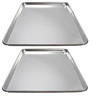 (Winware ALXP-1318 Commercial Half-Size Sheet Pans, Set of 2 (13-Inch x 18-Inch,)