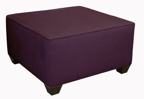 Fullerton Square Cocktail Ottoman by Skyline Furniture in Purple Micro-suede