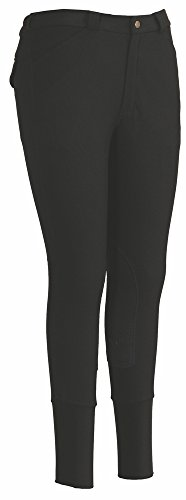 (TuffRider Men's Ribb Patrol Breech, Black, 34 )