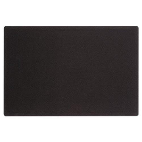 Oval Office Fabric Bulletin Board, 48 x 36, Black, Sold as 1 Each
