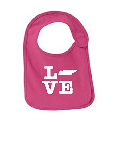 Tennessee Love Funny Infant Jersey Bib Sangria One - Nashville Opry