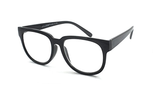 EYE-ZOOM Large Retro Style Reading Glasses Comfort Fit for Men and Women Choose Your Magnification, Black, +1.00 - Heads Eyeglasses Large For Mens